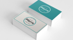 Online business card printing small button