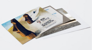 Online postcard printing small button